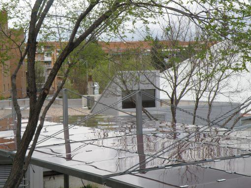 Onyx Solar photovoltaic pergola in Madrid